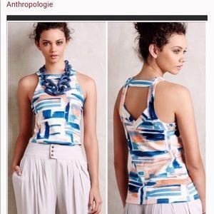Deletta Tops - Anthropology Deletra sleeveless watercolor top
